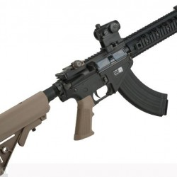 "BOLT Airsoft BR-47 10.5"" URX2 RIS B.R.S.S. Full Metal EBB Airsoft AEG Rifle (Color: Tan) Havalı Tüfek"