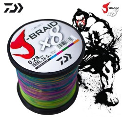 Daiwa J-Braid 8B Multicolor 1500m İp Misina
